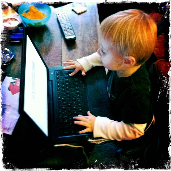 Fletcher of the day: checking email