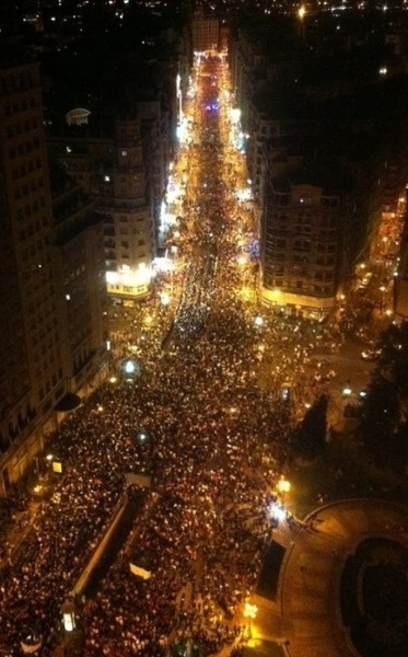 Foto de @jaumecollboni: -Madrid hace Unos minutos. #marchaminera #NocheMinera