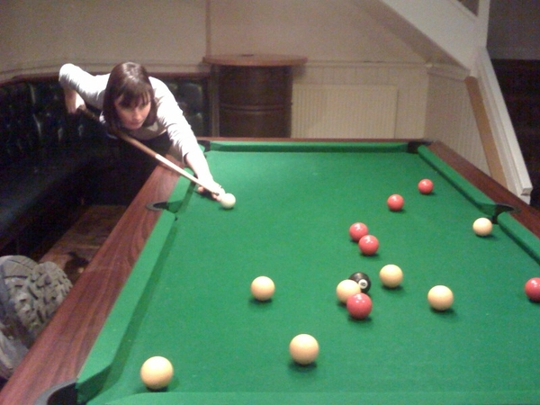 A fitting end, curry and a game of pool.