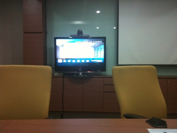 Waiting for videoconference to start
