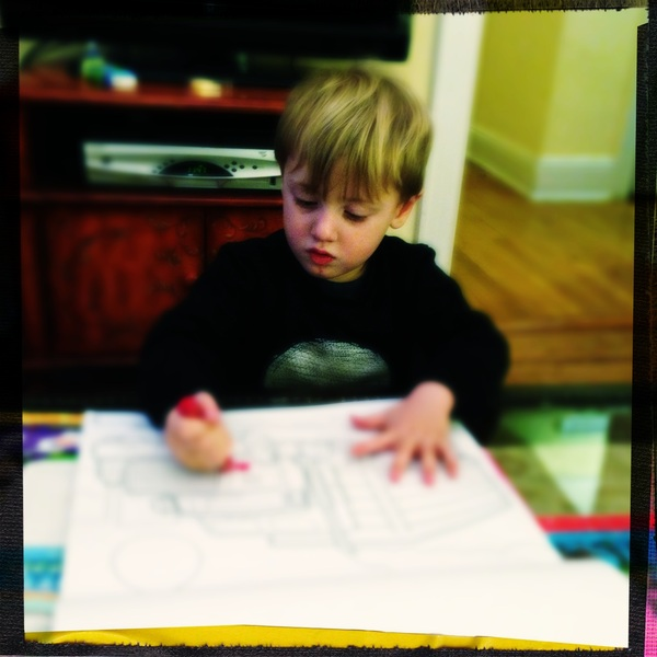Fletcher of the day: coloring