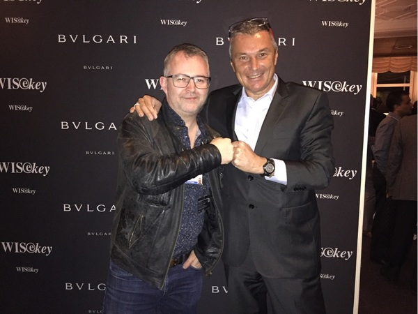 Fun to meet the CEO of Bulgari at the launch of their new luxury smart watch #davos #TCDavos