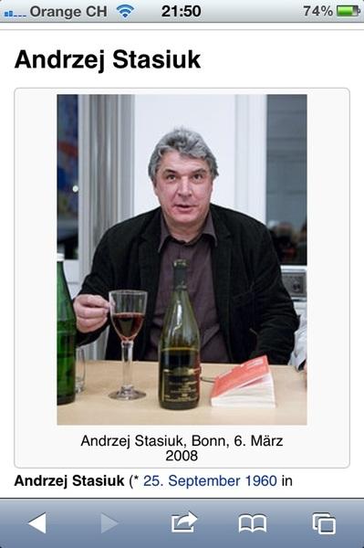 #EM2012 Ein ganz kuuler Schriftsteller, nicht des Geburtsdatums wegen. (Ich bin jünger) #Polska