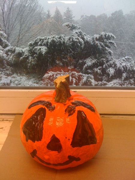 Happy (snowy) Halloween!