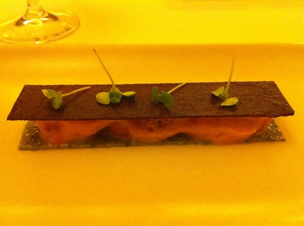 "Inventive, thotful, beautifully executed, delish meal @ D Patterson's Coi lst nite.Haunting ""inverted tomato tart"""