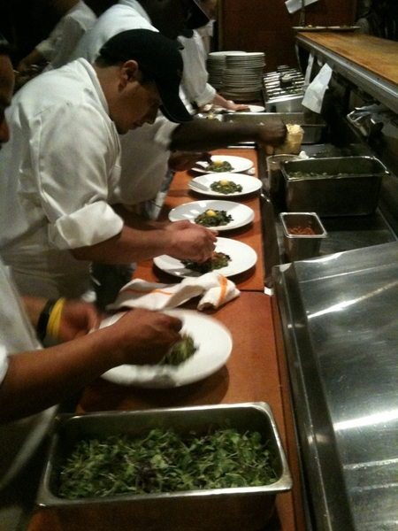 Frontera Farmer Foundation Dinner: picking up first course