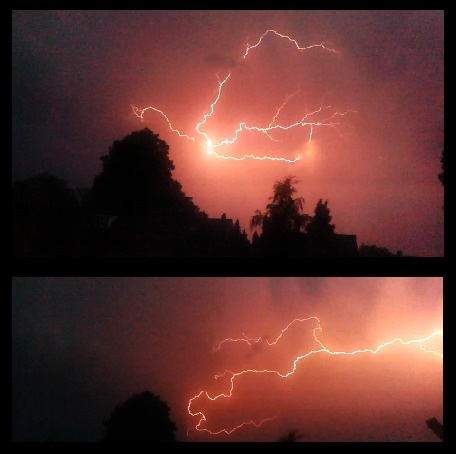 Op 10-7-2014 rond 22:30 ging het onweren in Hengelo(ov). Onweer was zelf niet zo heel krachtig maar de flitsen waren wel heel scherp #buienradar
