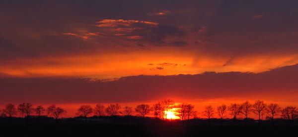 Zonsondergang vanaf Boerpad richting Meppel #buienradar