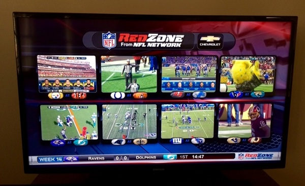 The @nflredzone from @nflnetwork presented by @chevrolet octascreen! #nflredzone #fantasyfootball