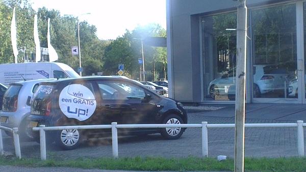 Stel dat je een #UP wint en tis nie eens gratis :O #volkswagen