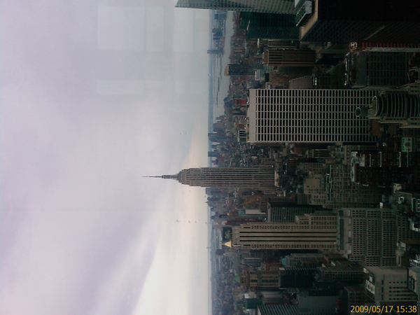 On top of the Rockefeller Center! Windy but asskickin' view