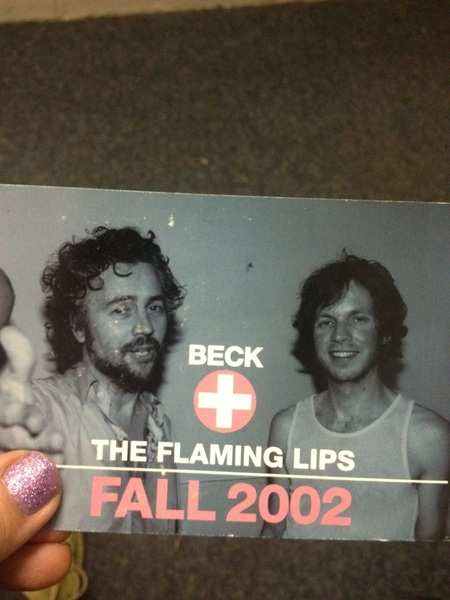 Classic Lips/Beck poster...