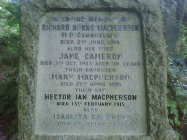 Macpherson Ancestry, Glasgow, Scotland