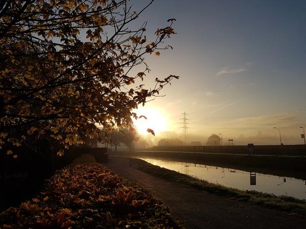 Prachtige zon en mist vanmorgen in Opheusden #buienradar