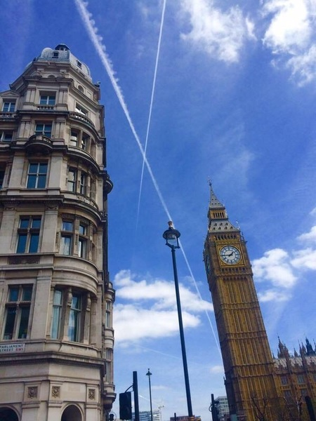 Is this a sign in the sky over Westminster?