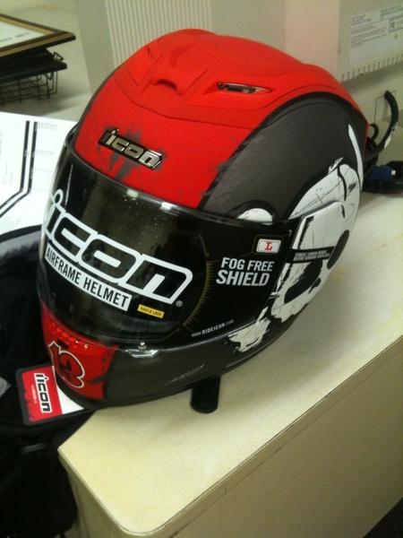look!! f'n cool helmet... got a jacket too. thanks, Icon!!