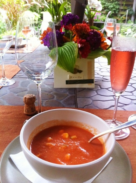 I am 1 lucky father:Daughter threw surprise 32nd anniversary party 4 Deann&me. 1st crs:rstd tom gazpacho& rut rosé