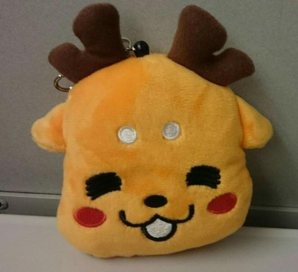 奈良で大ちゃんが持ってたしかまろくんが可愛かったので、思わず買ってしまった。 …でも、大ちゃんの持ってたのとは、表情違うんだけどね(^_^;