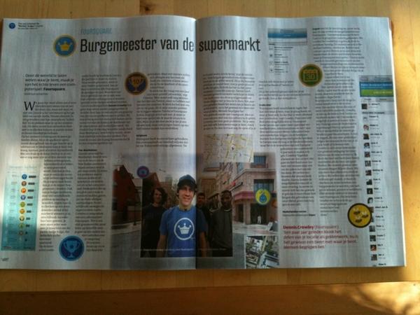 Leuk artikel in de VPRO gids over #foursquare met @alper