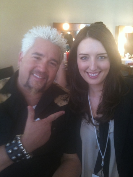 Goodtimes in the makeup room with @chefguyfieri yesterday! Xo @luxebeauty