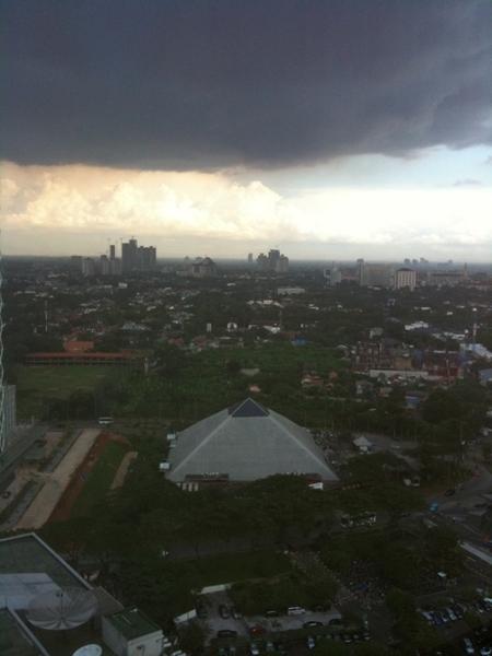 Rain is coming over jakarta
