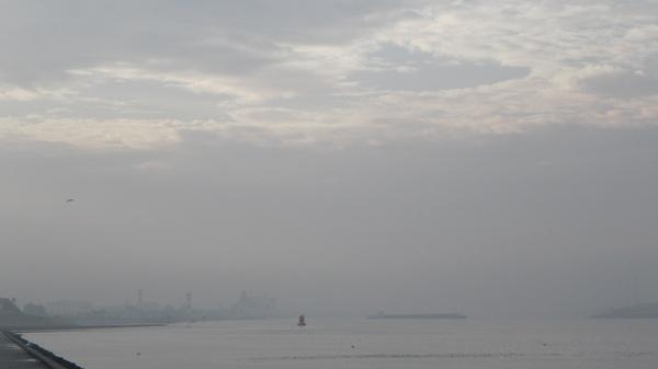 beetje mist, maar de eertste gaten komen in de bewolking #buienradar
