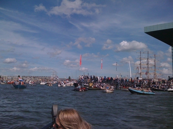 Thousands of people. Hundreds of boats in the harbour.
