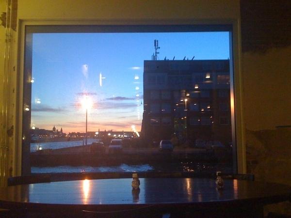 Dinner with my love @huub w/ IJ-view, restaurant Stork