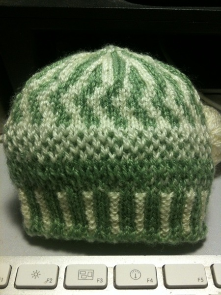 Colourwork preemie hat design test
