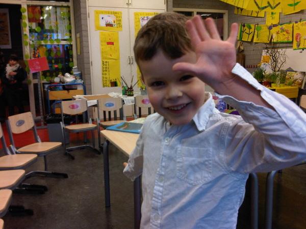 Arjen op school ;-)
