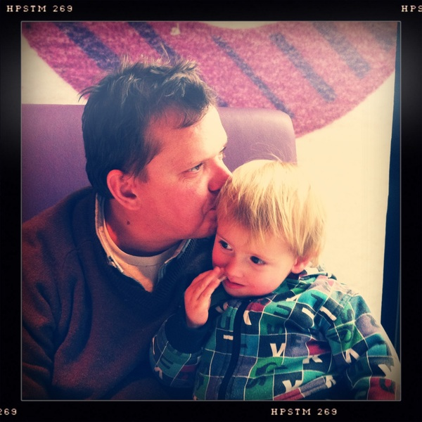 Fletcher of the day: sitting with Papa