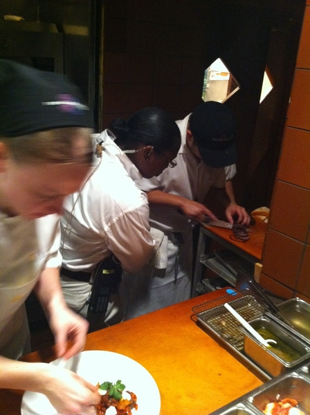 All of President's staff were incredibly nice, easy going, especially navy chef (in middle) who ensures quality.