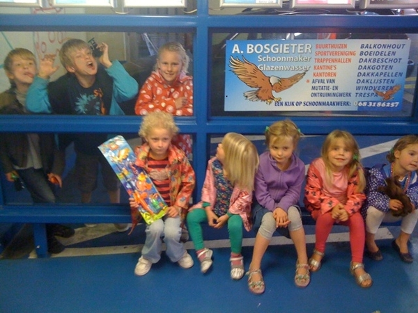 We did well: 4 girlfriends, 8 great kids!