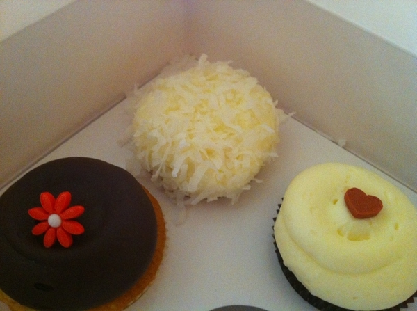 Breakfast of Champions!!! Georgetown cupcakes and coffee. I'm in my happy place!!!