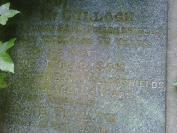 McCulloch Ancestry, Glasgow, Scotland