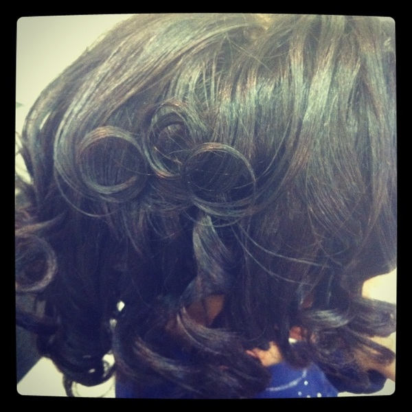 Holiday hair!!! Liz and Daughters - Relaxer Look - Silk Pressing Creme. Works!!! And rocks!!!
