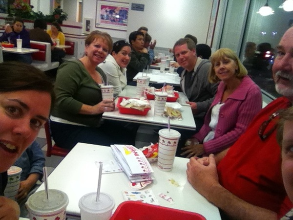 Final In N Out meal with the family