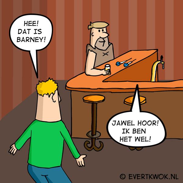 Hee! Dat is Barney! #cartoon