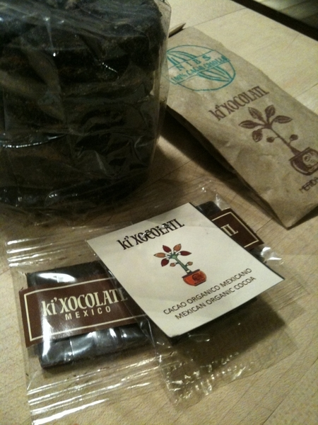 Some amazing finds at NY Fancy Food show: ki'xocolatl organic chocolate from Yucatan. Look for it soon at Frontera