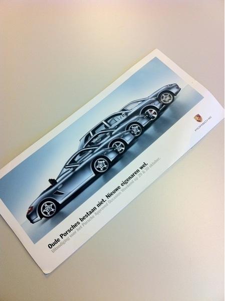 Mail from Porsche