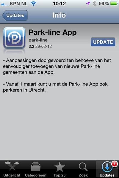 Vanaf 1 maart 2012 ook parkeren #in Utrecht met @Parkline! #hoera