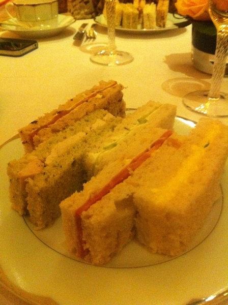 Finger sandwiches at Dorchester afternoon tea