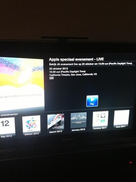 Zo vandaag eens live kijken naar Apple event