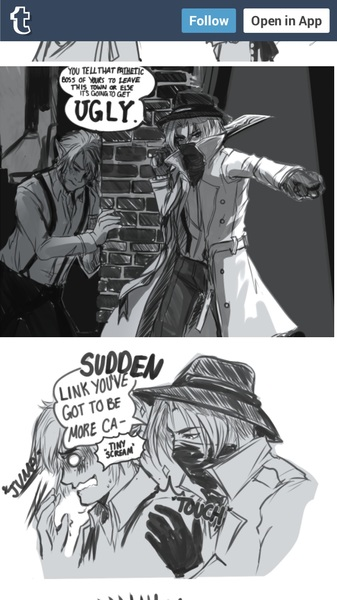 Eeeeee! 1920's AU Shink~ { http://lightsintheskye.tumblr.com/post/118657781591/dear-journal-i-might-have-to-leave-for-a }