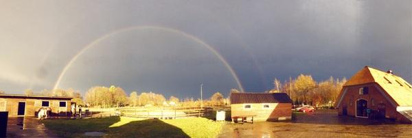Na regen komt...een dubbele regenboog. #buienradar