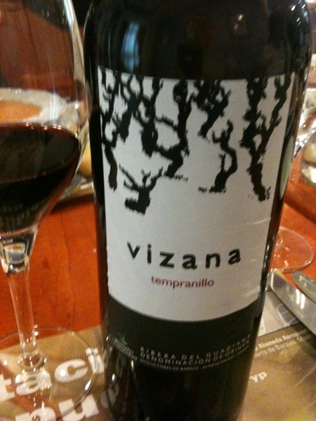 Vizana Temranillo Crianza 2007. Dark beauty with blackberry and currant notes with serious tannins. Big powerful wine!