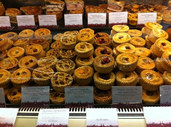 Harrod's Food Halls: I could post 1000 pics, but the sect of meat pies is unlike anywhere else