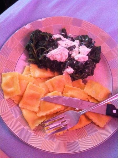 Eten gekookt! (als ik de helft opeet ben ik blij) #ziek