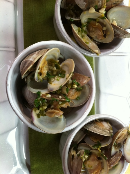 """Mexico--One Plate"" shoot day 3: warm clam ceviche with cilantro, green chile and beer"