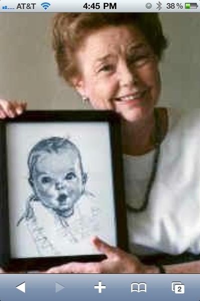 Baby gerber (Ann Turner Cook) 1928, la dibujaron cuando solo tenia 5 meses